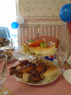 Selection of foods prepared by our chef for the Queens 90th Celebration