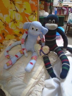 Sock Monkey's the residents have made